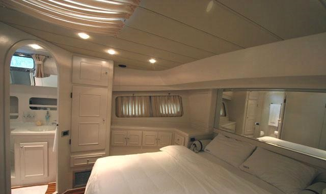View of master cabin in yacht