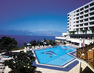 Outside view of Talya hotel in Antalya