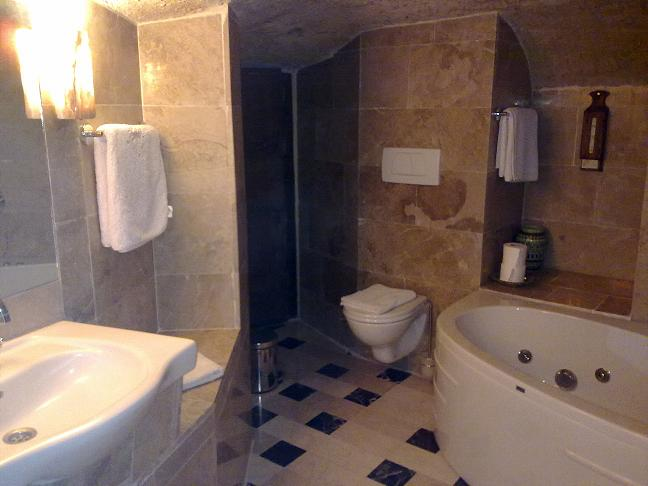 View of the bathroom of Tolun's Cappadocia Lodge