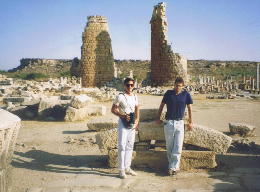 Perge Hellenistic gate at the background