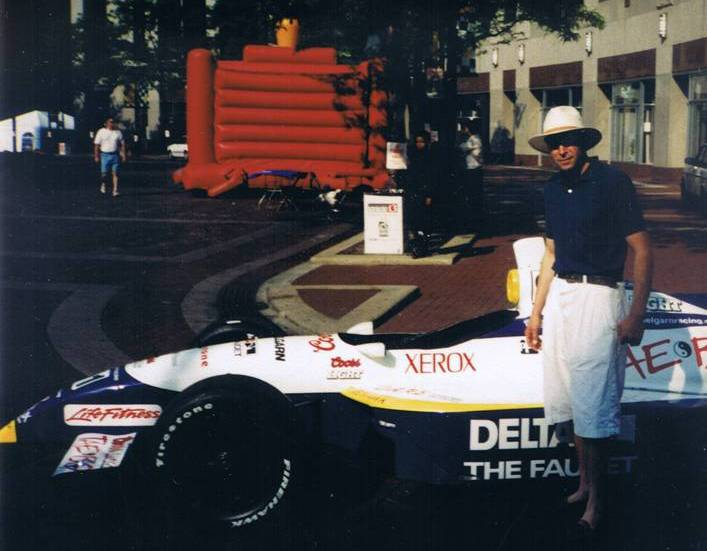 In Indianapolis with race car
