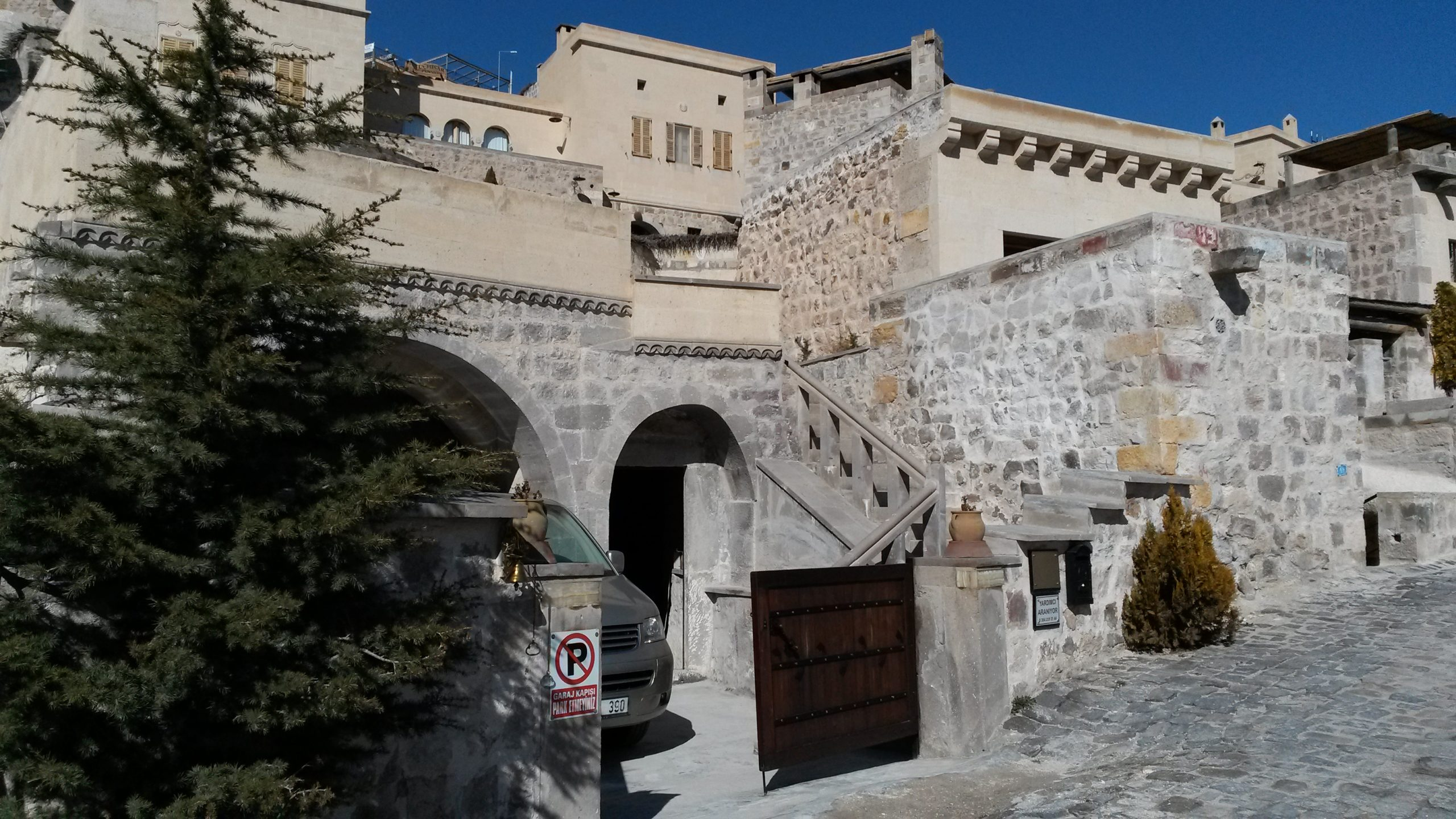 View of the entrance of Cappadocia Lodge in Pigeons valley