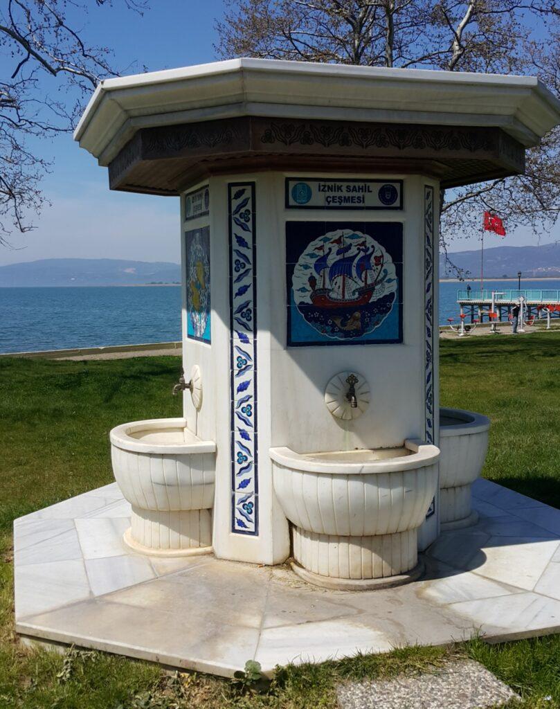fountain by iznik lake
